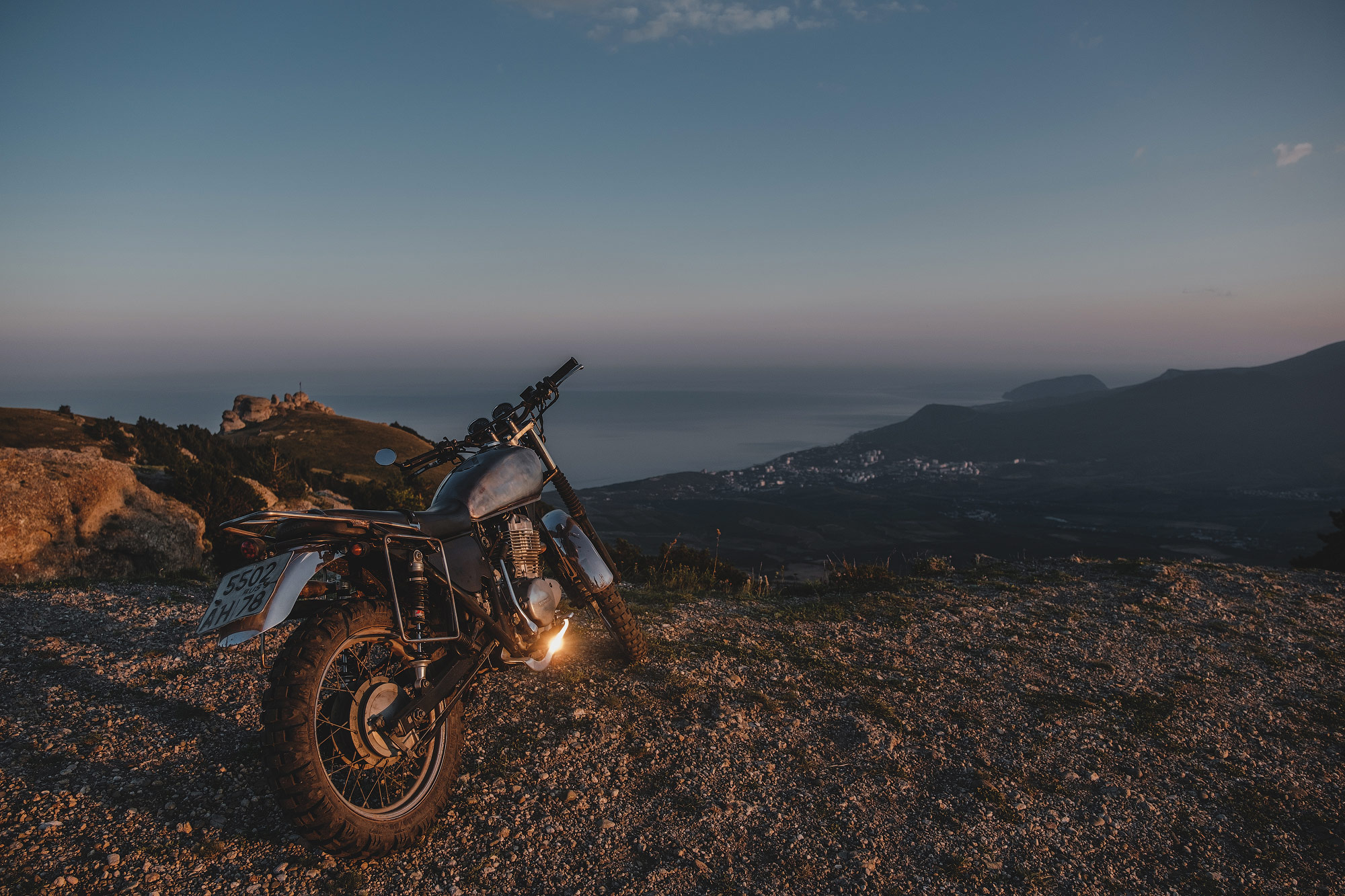 Крым на классическом мотоцикле